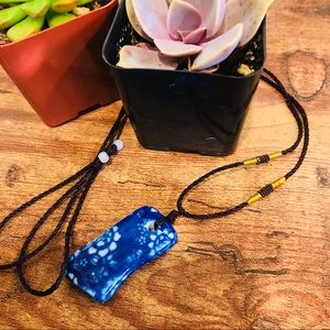 🆕🦋HANDMADE PAINTED PORCELAIN CERAMIC NECKLACE🦋